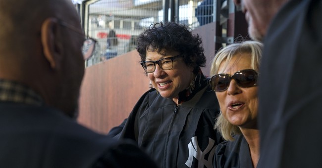 Supreme Court Justice Sotomayor in Judge's Chambers at Yanks