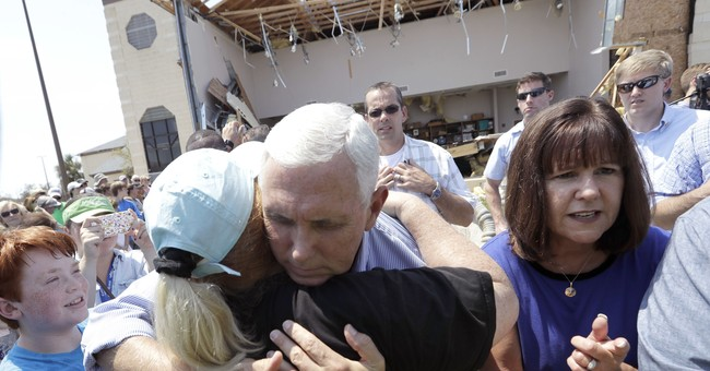 The Latest: Pence urges Congress to act quickly on Harvey