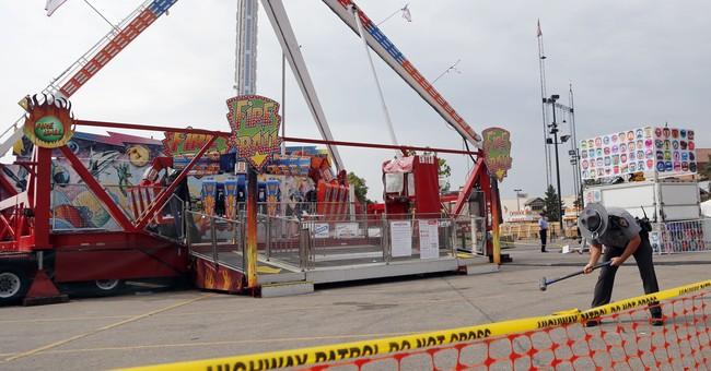 The Latest: Ride operators not to blame in Ohio fair crash
