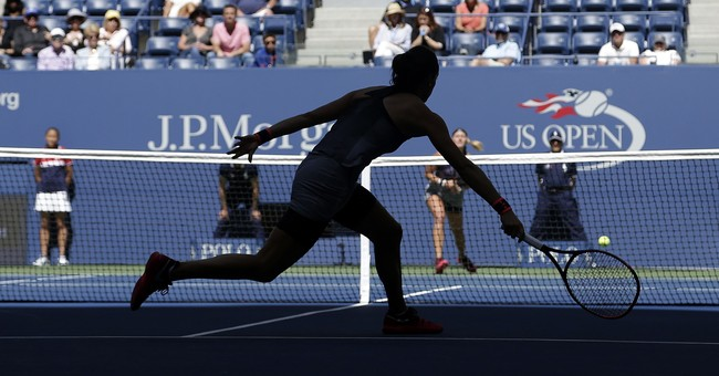 The Latest: Sharapova through to US Open round of 16