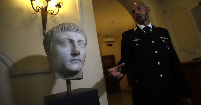Italy displays marble Roman head stolen in World War II
