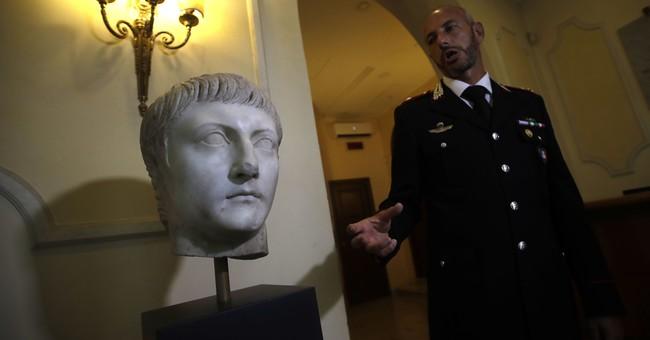 Italy displays marble Roman head stolen in World War II