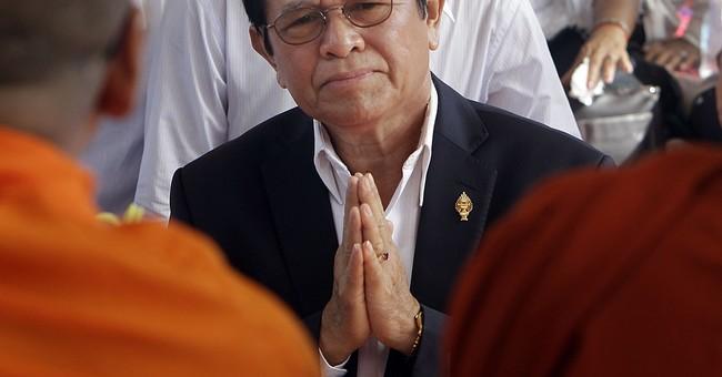 Cambodia arrests opposition leader, alleging treason