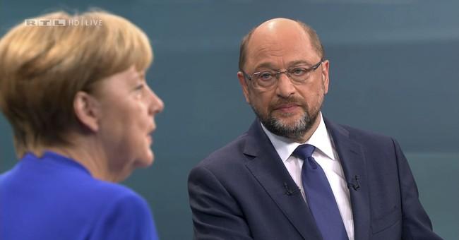 Merkel, rival Schulz spar over Turkey in TV election debate