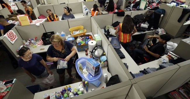 In line and in life, Harvey's victims wait and worry