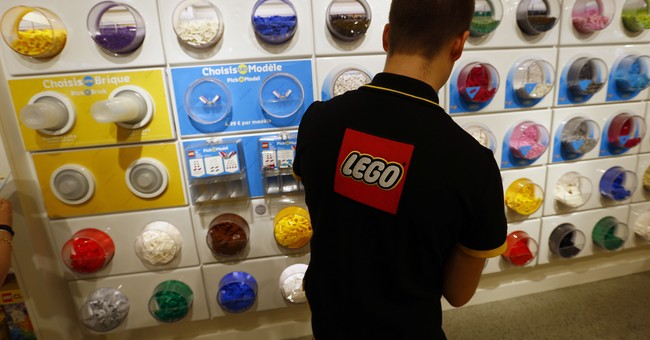 Lego looks wobbly after building itself high