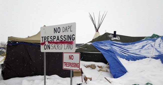 Weather service: Pipeline protest camp could see flooding
