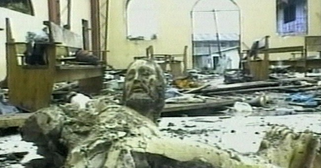 Christ statue mutilated by war to receive papal blessing
