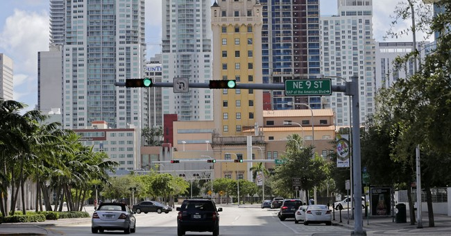 Huge construction cranes loom over Miami as Irma threatens