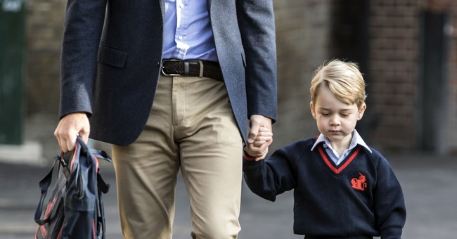 Royal school run: Prince George's first day 'a success'