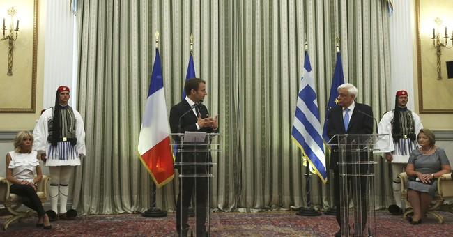 At democracy's birthplace, France's Macron dreams of EU 2.0