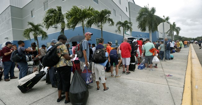Lines form at shelter as Irma nears; 75K total taking refuge