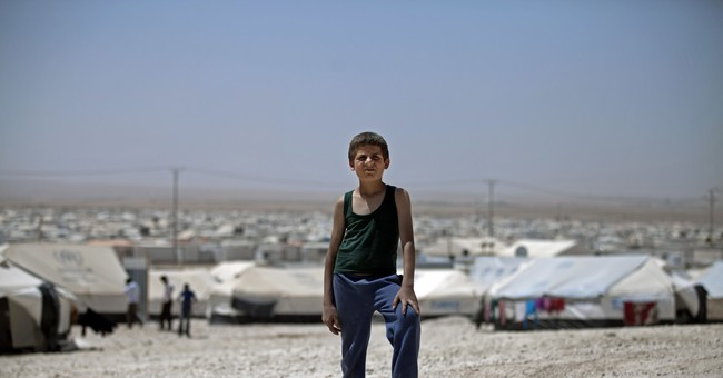 Syrian refugee camp in Jordan gets full-size soccer pitch