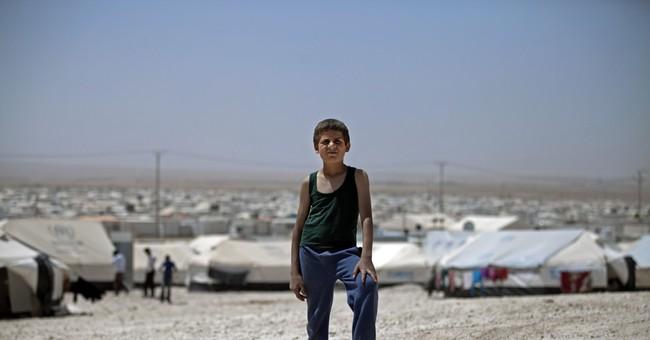 Syrian refugee camp in Jordan gets full-size soccer pitch