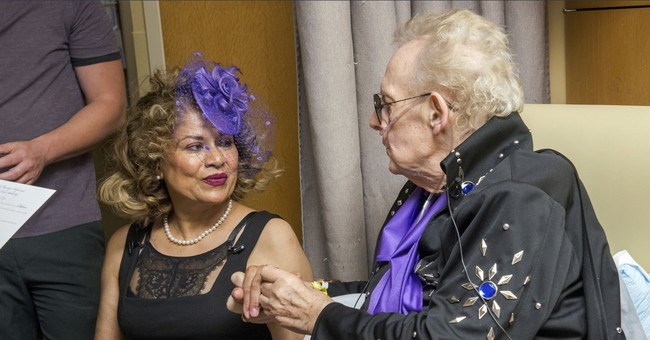 Reunited after 50 years, couple marries in hospital room