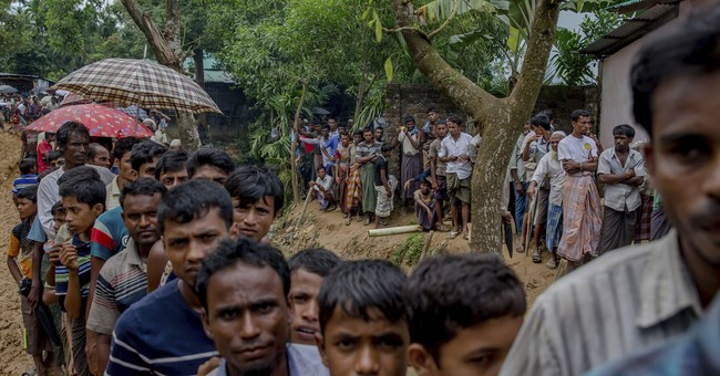 The Latest: UN says 389,000 Rohingyas have fled in 3 weeks