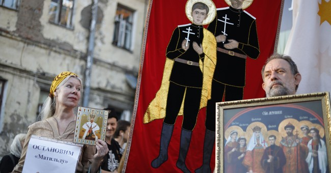 Russia seeks to calm tensions over czar love affair film