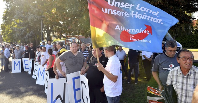 German right-wing party on course to enter parliament