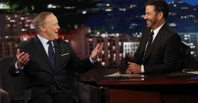 Sean Spicer pressed (gently) as 'Jimmy Kimmel Live' guest