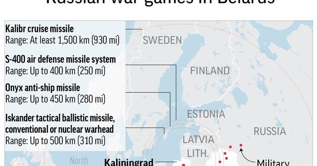 Russia war games in Belarus spark anxiety in Baltics