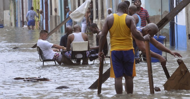Pic of Cubans at dominoes in Irma floodwaters sparks debate