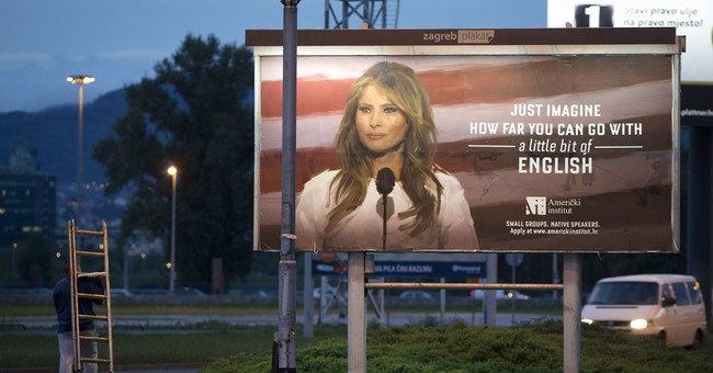 Melania Trump threatens lawsuit over English class billboard