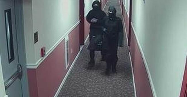 Police: People dressed as ninjas started fires in building