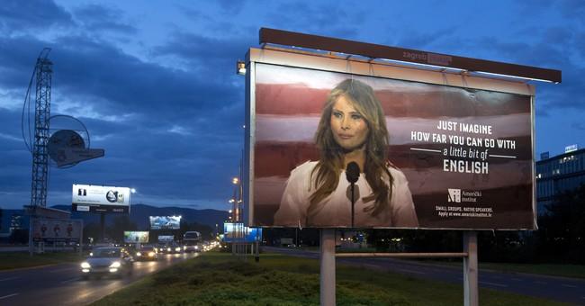 Melania Trump threatens lawsuit over English class billboard