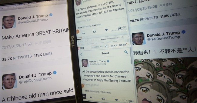 Chinese send fake Trump tweets as jokes, New Year wishes