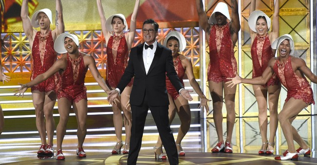 Stephen Colbert: A smooth Emmy host while roughing up Trump