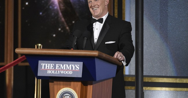 Politics and Sean Spicer take center stage at Emmy Awards