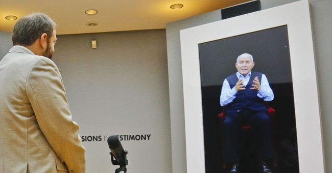 Exhibit allows virtual 'interviews' with Holocaust survivors