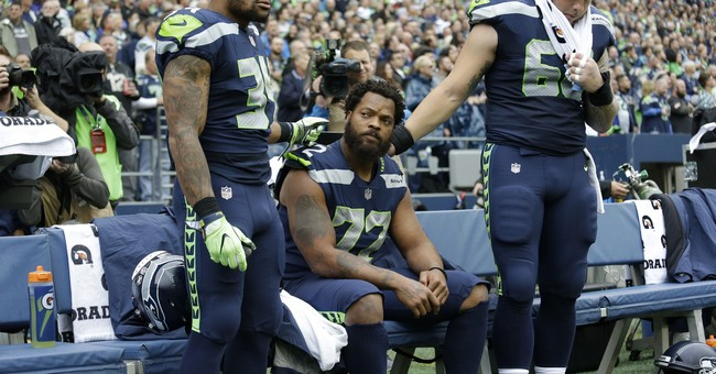 Seahawks Bennett continues to sit for anthem in home opener
