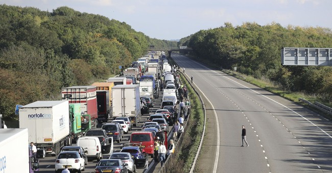 Motorists trapped as suspicious object shuts main UK highway