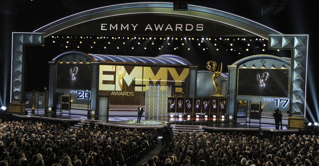 Emmys steady in ratings but no Colbert bump; football rules