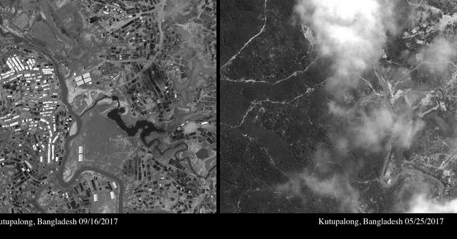 Satellite images show sprawling Rohingya refugee camps