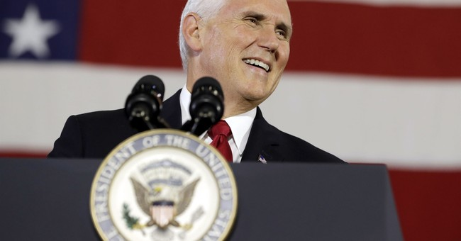 Pence targets Democratic Indiana senator with tax speech