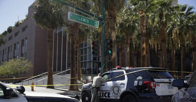Defendant's relative arrested in Vegas court sidewalk crash