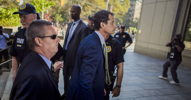 The Latest: Anthony Weiner sentenced to 21 months