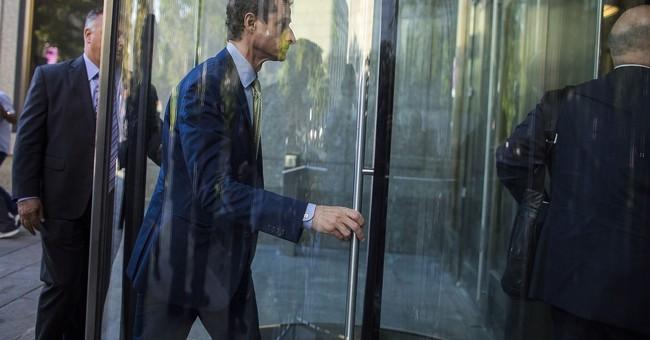 'Rock bottom': Weiner gets 21 months in prison for sexting