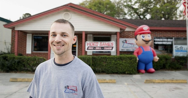 Wahoo! Town allows inflatable Mario back outside game store