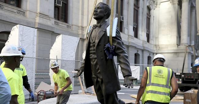 The Latest: Philadelphia honors black activist with statue