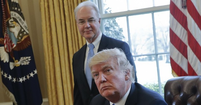 Trump says he's not happy with HHS Secretary Tom Price
