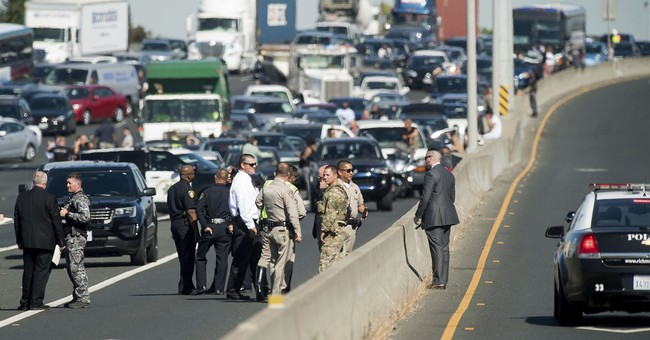Suspect shot in standoff with officers on California freeway