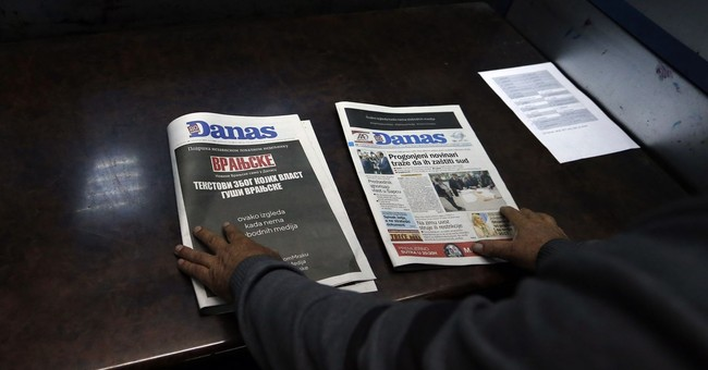 Serbia's media stage blackout over pressure on free press