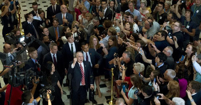 Cheers, tears and hugs as wounded Scalise returns to Capitol