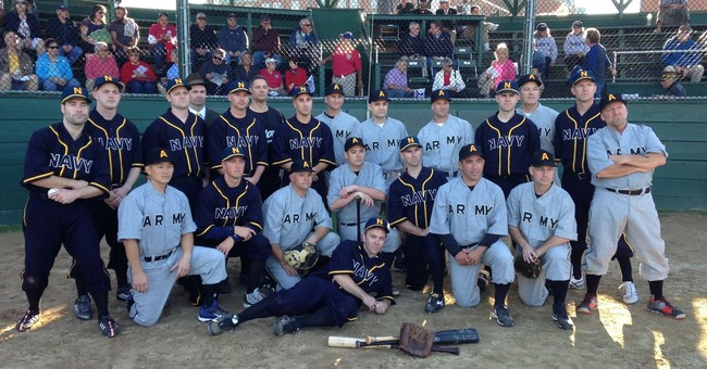 Sailors and soldiers recreate World War I baseball game