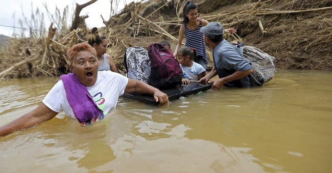 Maria television reporting raises echoes of Katrina coverage