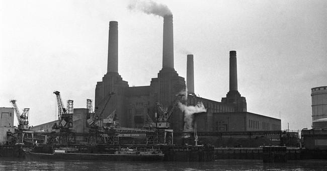 Battersea Power Station re-development underway in London