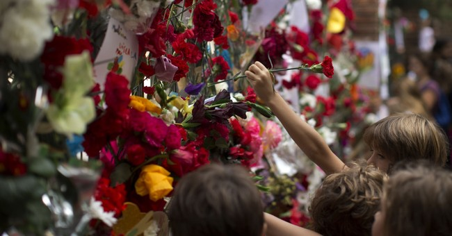 The Latest: Tens of thousands marching in Barcelona